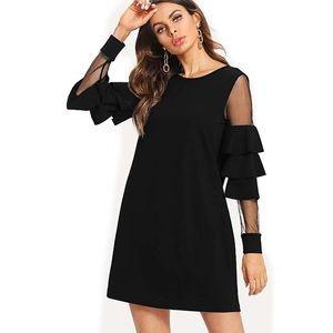 Dresses & Skirts - 1 SIZE SMALL LEFT Sheer Sleeved Little Black Dress
